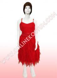 Kırmızı Dans Kostümü