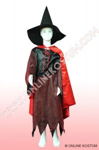 Cadı Kostümü Pelerinli